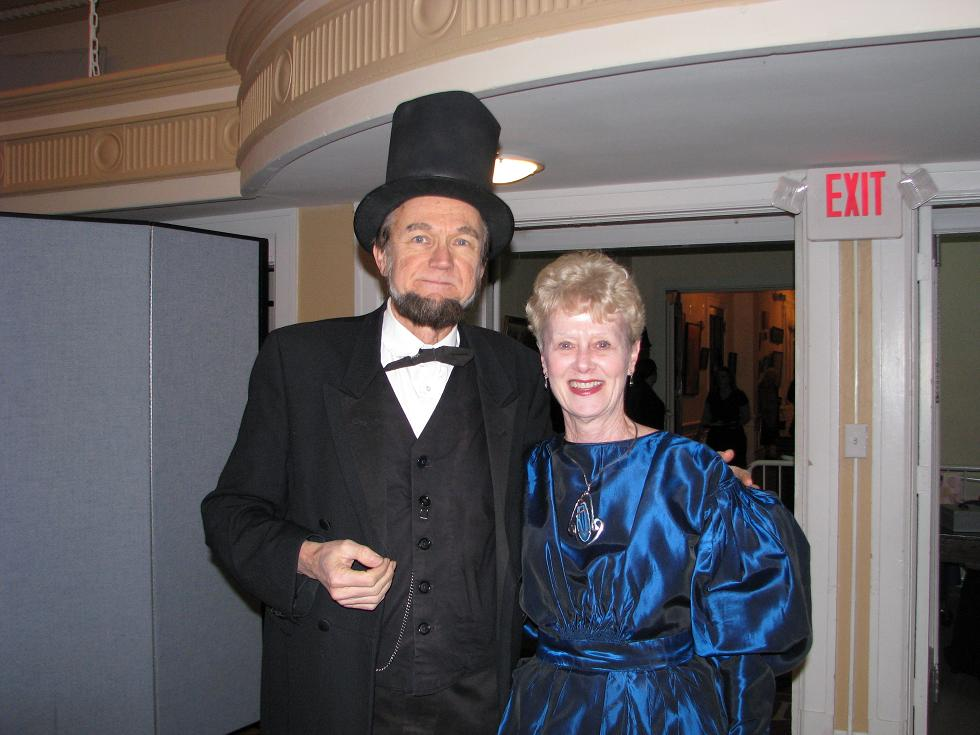 Civil War Ball - Lincoln and Woman