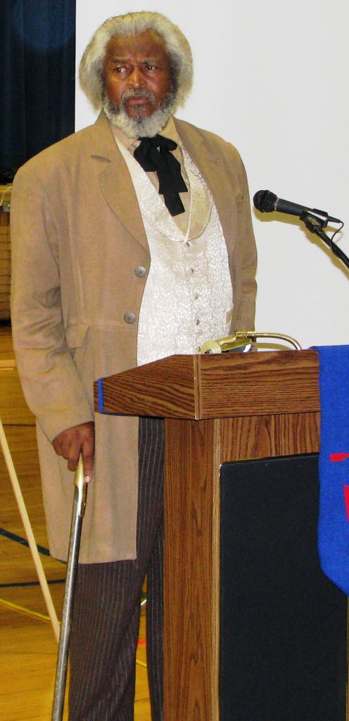 Michael Crutcher Sr as Frederick Douglass in 2013
