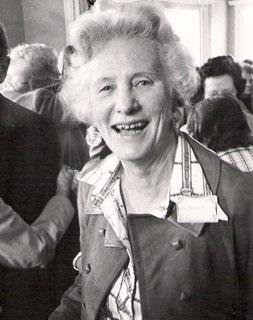 black and white photo of Ruth Drinkle