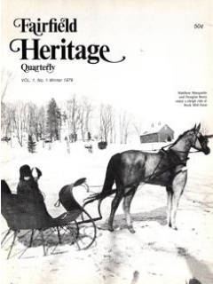 1982 cover of magazine - Fairfield Heritage Quarterly