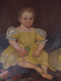 historical art painting of child